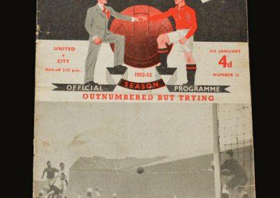 Man Utd v Man City 03.01.1953