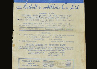 Man Utd v Bolton 24.01.1953