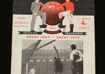 Man Utd v Walthamstow Avenue 31.01.1953 - FA Cup 4th Round