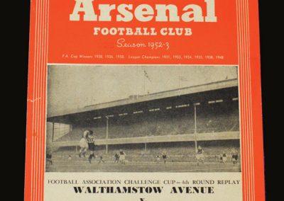 Man Utd v Walthamstow Avenue 05.02.1953 - FA Cup 4th Round Replay