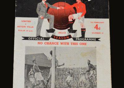 Man Utd v Aston Villa 07.02.1953