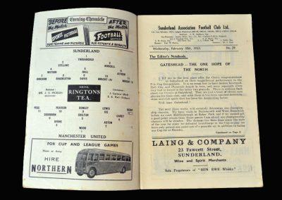 Man Utd v Sunderland 18.02.1953