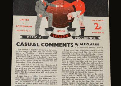 Man Utd v Spurs 25.03.1953