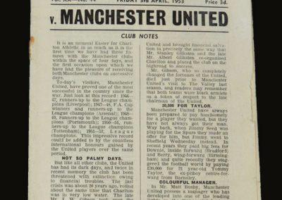 Man Utd v Charlton 03.04.1953