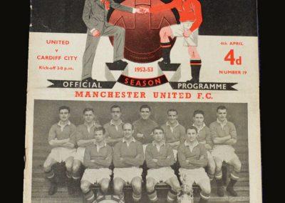 Man Utd v Cardiff City 04.04.1953 Duncan Edwards debut
