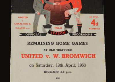 Man Utd v Charlton 06.04.1953