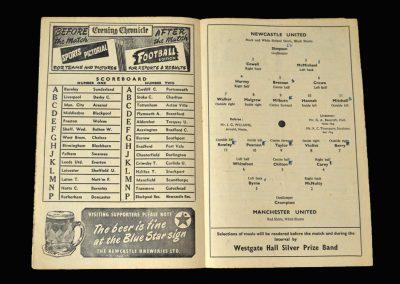 Newcastle v Man Utd 11.04.1953 Dennis Viollet [& Les Olive] debuts