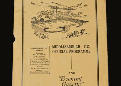 Man Utd v Middlesbrough 25.04.1953