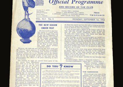 Man City v Spurs 01.09.1952