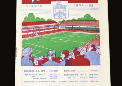 Man City v Burnley 08.09.1952