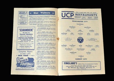 Man City v Cardiff 04.10.1952