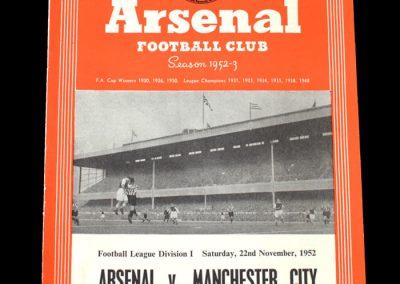 Man City v Arsenal 22.11.1952