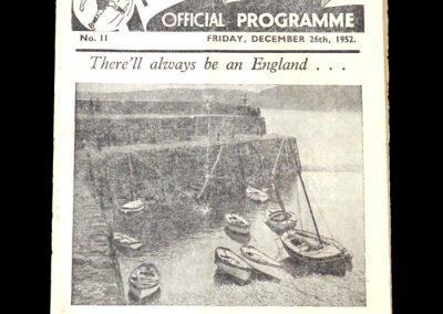 Man City v Preston 26.12.1952 (postponed)