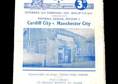 Man City v Cardiff 21.02.1953