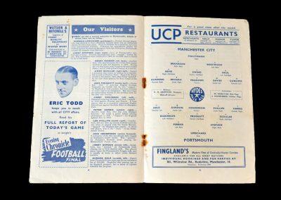 Man City v Portsmouth 28.02.1953