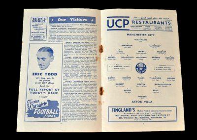 Man City v Aston Villa 14.03.1953