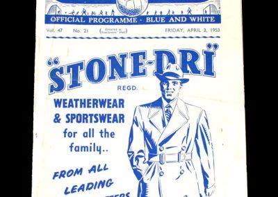 Man City v Sheff Wed 03.04.1953