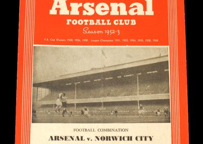 Arsenal v Norwich 23.08.1952