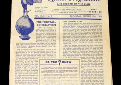 Arsenal v Spurs 30.08.1952