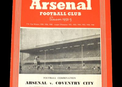 Arsenal v Coventry 06.09.1952