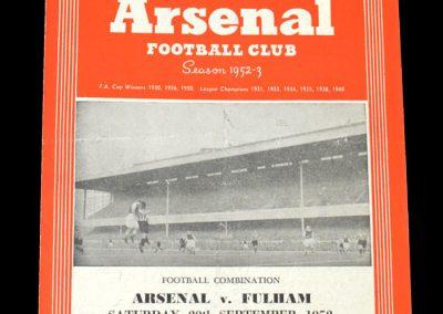Arsenal v Fulham 20.09.1952