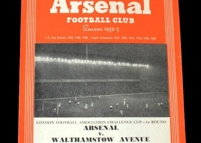 Arsenal v Walthamstow Avenue 06.10.1952