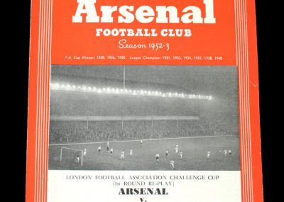 Arsenal v Walthamstow Avenue 13.10.1952