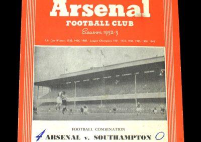 Arsenal v Southampton 29.11.1952