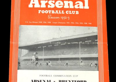 Arsenal v Brentford 21.02.1953