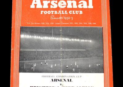 Arsenal v Brighton 16.03.1953
