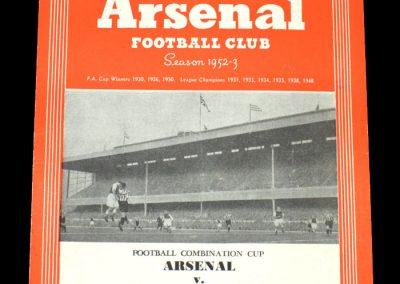 Arsenal v Crystal Palace 25.04.1953