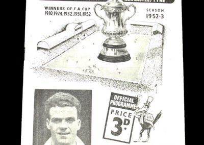 Newcastle v Sheff Wed 20.12.1952