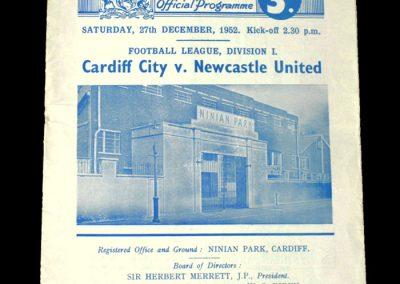 Newcastle v Cardiff City 27.12.1952