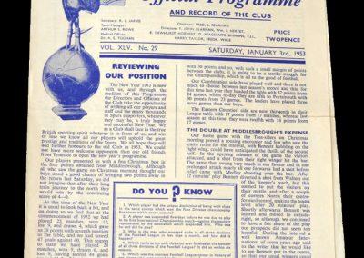 Newcastle v Spurs 03.01.1953