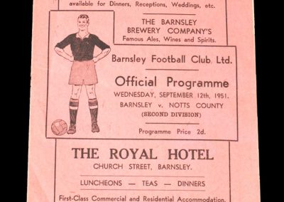 Notts County v Barnsley 12.09.1951