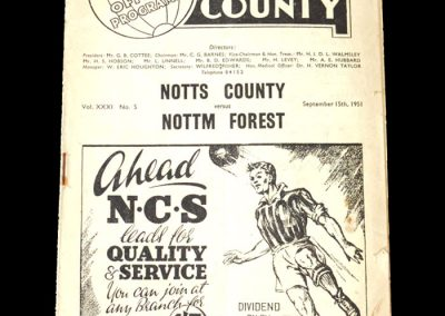 Notts County v Notts Forest 15.09.1951