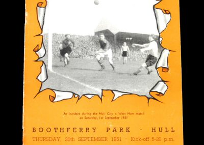 Notts County v Hull City 20.09.1951