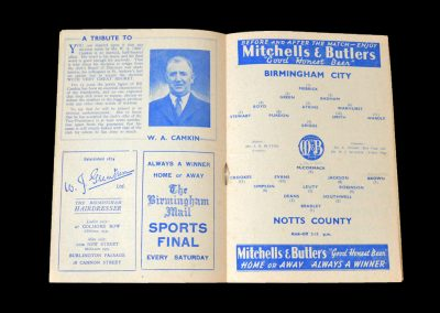 Notts County v Birmingham 01.12.1951
