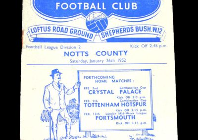 Notts County v QPR 26.01.1952