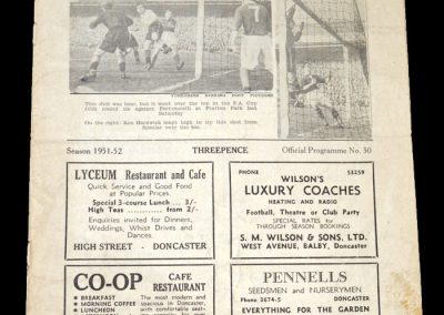 Notts County v Doncaster 01.03.1952