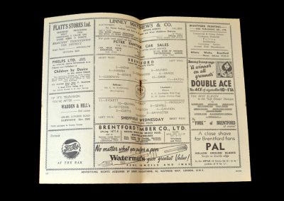 Brentford v Sheff Wed 11.04.1952