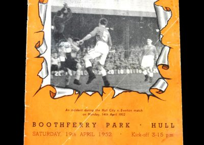 Brentford v Hull City 19.04.1952