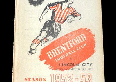 Brentford v Lincoln 23.08.1952
