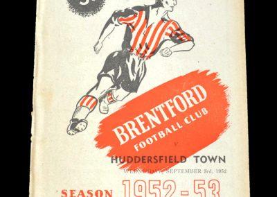 Brentford v Huddersfield 03.09.1952