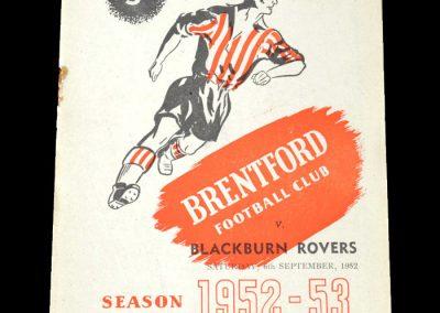 Brentford v Blackburn Rovers 06.09.1952