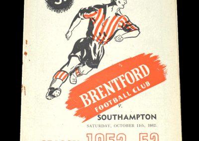 Brentford v Southampton 11.10.1952