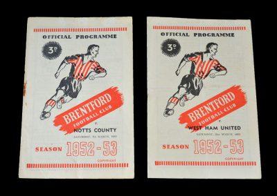 Brentford v Notts County 07.03.1953 | Brentford v West Ham 21.03.1953