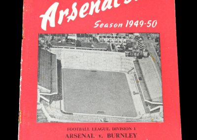 Arsenal v Burnley 20.08.1949