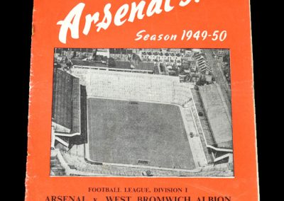 Arsenal v West Brom 14.09.1949