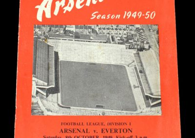 Arsenal v Everton 08.10.1949
